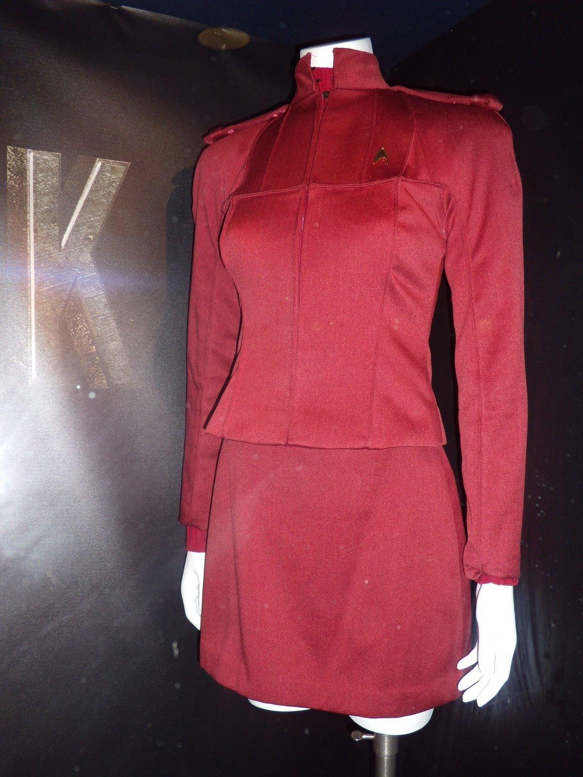 New Star Trek movie costumes - Red Starfleet cadet uniform