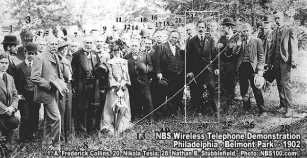 Nikola Tesla at Wireless Telephone Demonstration, 1902
