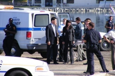 Hotch & Emily 壁纸 possibly containing a 巡洋舰 called Paget/Thomas- Behind the scenes