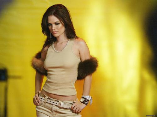 Rachel Bilson Hintergrund probably with hosiery, a hip boot, and a bustier called Rachel