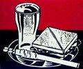 MUSTARD ON WHITE DECONSTRUCTING ROY LICHTENSTEIN © 2000 DA