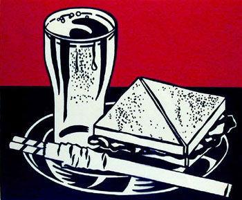 sandwich, sandwichi and Soda kwa Roy Lichtenstein