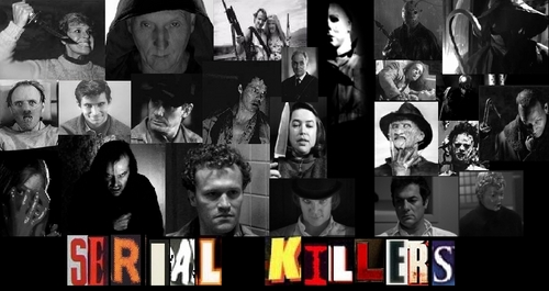 Horror films achtergrond entitled Serial Killers