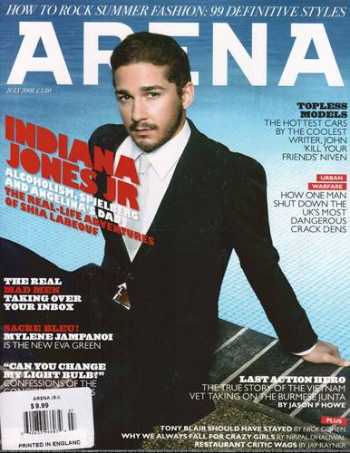 Shia gorgeous on Arena Magazine