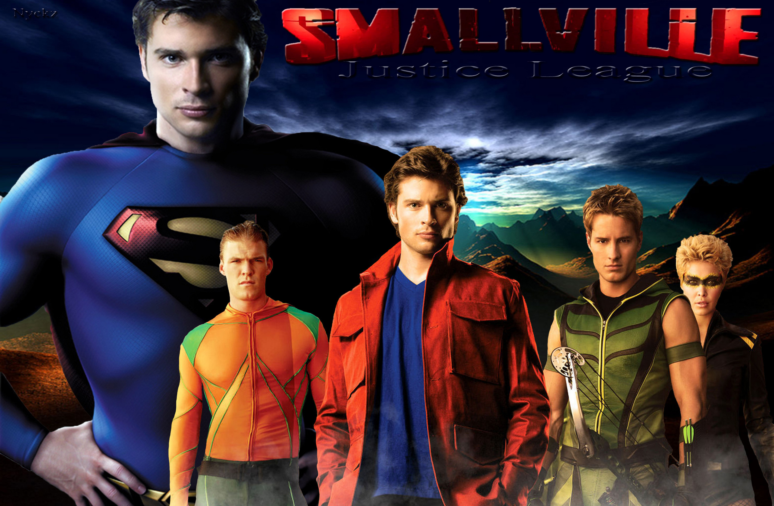 Smallville Fond Decran With Anime Titled WallpaperJustice League