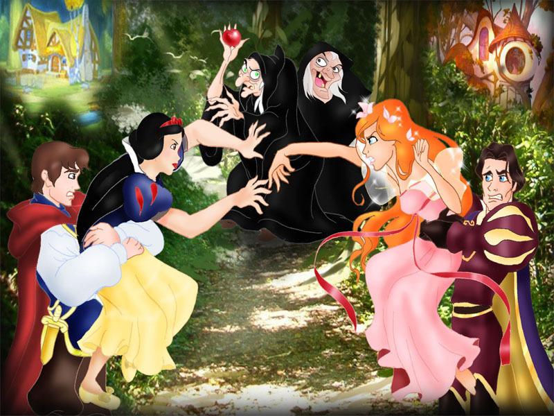 Doublages Snow-White-vs-Giselle-disney-princess-6840278-800-600