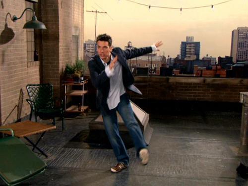 Ted doing his rain dance