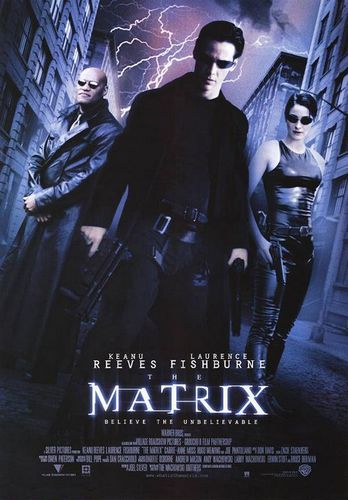 The Matrix wallpaper with a business suit and a sign called The Matrix Movie Poster