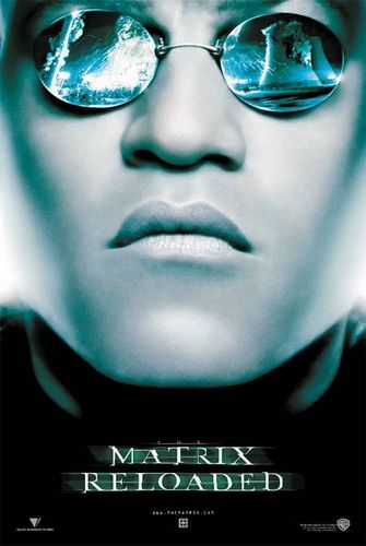 The Matrix achtergrond probably with sunglasses called The Matrix Reloaded Movie Poster