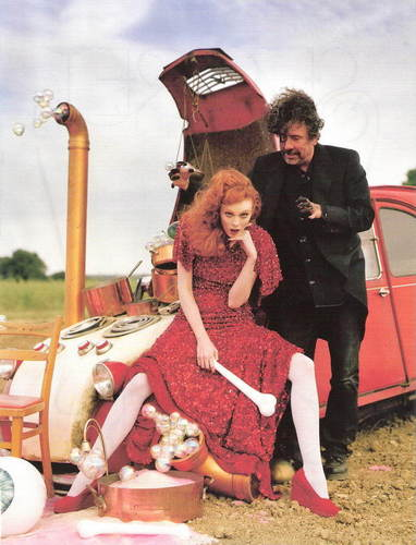 Tim burton in the December 2008 Issue of Vogue (UK)