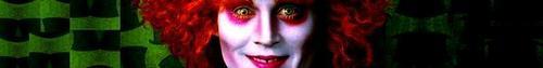 Tim Burton's 'Alice In Wonderland' ~ The Mad Hatter Banner