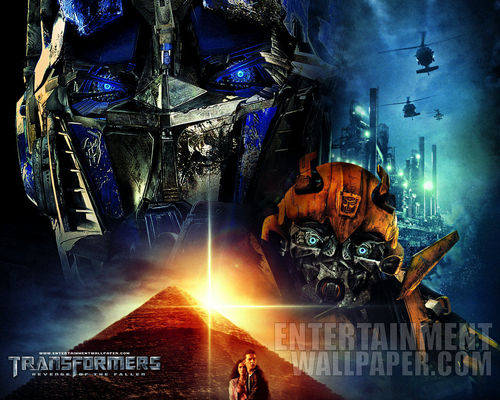 Transformers karatasi la kupamba ukuta possibly with anime titled Transformers: Revenge of the Fallen