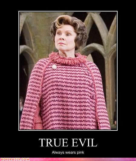 Knitting Funny Facts : True evil wears pink harry potter fan art fanpop