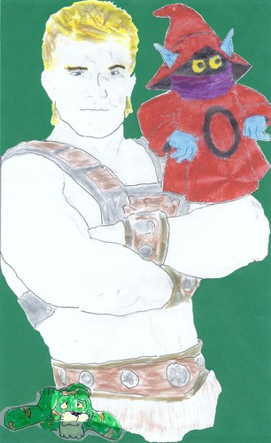 m.o.t.u. he-man, orcho, & cringer