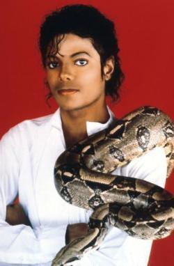 michael jackson with a ular boa, boa