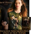 ne moon t-shirt poster - twilight-series photo