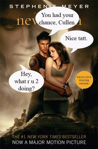 new moon Fan saying book cover