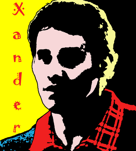 AgentCoop's Entry-Pop Art Xander With Text