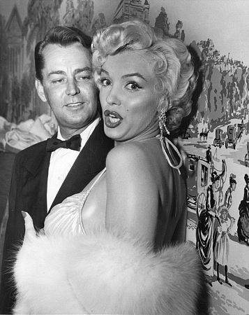 Alan Ladd and Marilyn Monroe