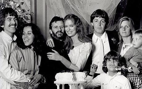 Beatles at Ringo Starr's wedding