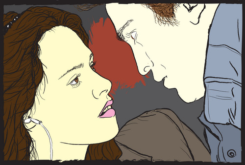 Bella and Edward - Comic book Style