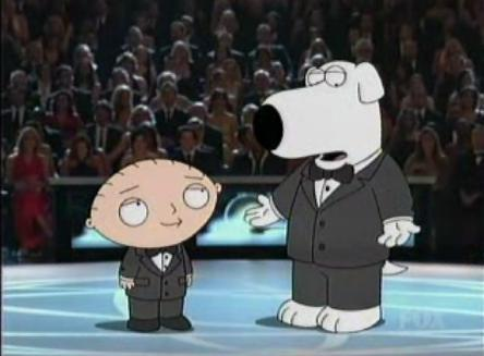 Brian and Stewie at the emmys
