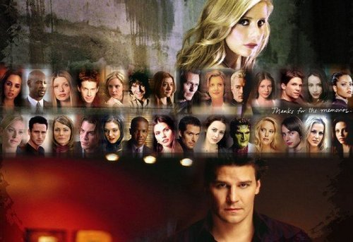Buffy the Vampire Slayer wallpaper possibly with a concert entitled BtVS and Angel casts