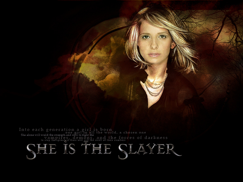 buffy the vampire slayer wallpaper possibly containing a portrait titled Buffy