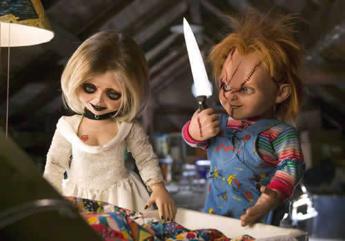Chucky wallpaper possibly with a cleaver and a spatula called CHUCK&TIFF
