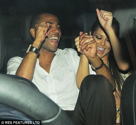 Cheryl wearing Alexander McQueen at her 26th Birthday party