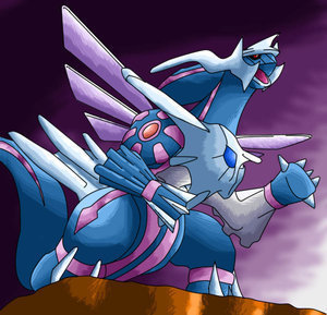 Legendary Pokemon wallpaper probably with anime titled Dialga fushion Palkia