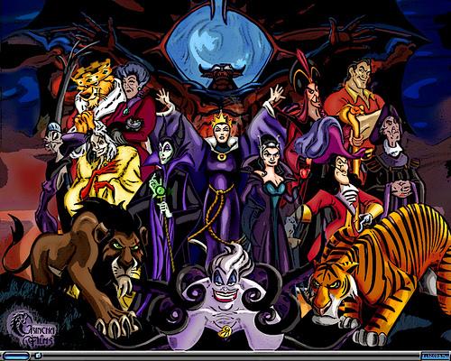 Disney Villains wallpaper containing anime entitled Disney Villains