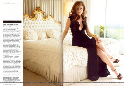 Emily Deschanel in Esquire UK July 2009
