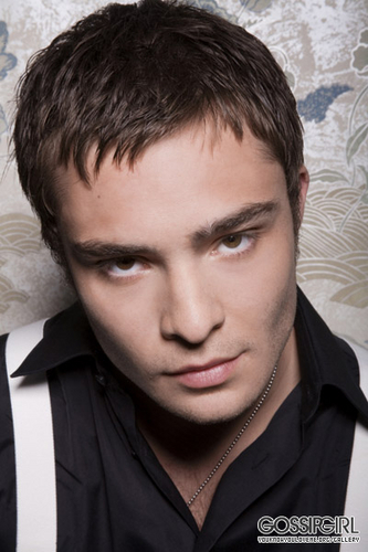 Ed Westwick Hintergrund possibly containing a business suit and a portrait titled Ed Westwick