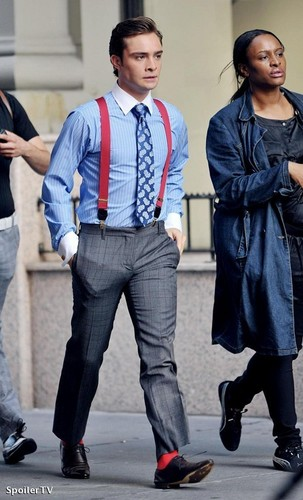 Ed on the set of GG (June 29)
