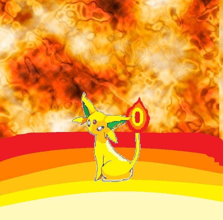 ngọn lửa, chữa cháy Espeon