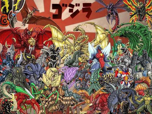 Godzilla wallpaper with anime called GODZILLA NEO WALLPAPER