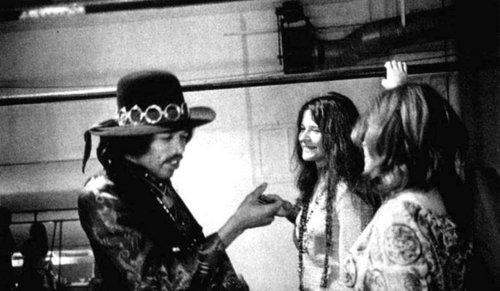 Janis with Jimi Hendrix