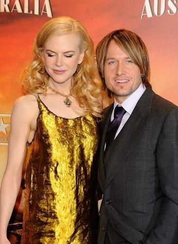 Keith and Nicole at Madrid screening of Australia