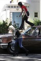 Kristen and Dakota on The Runaways set - twilight-series photo