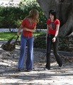 Kristen and Dakota on set of The Runaways - twilight-series photo