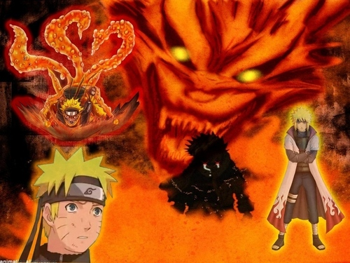Uzumaki Naruto (Shippuuden) Hintergrund possibly with Anime called Kyuubi Fantasy