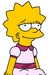 Lisa Pink Dress - lisa-simpson icon