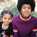 Little Michael and Janet - michael-jackson photo