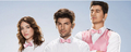 Lizzy Caplan, Adam Scott & Ken Marino - party-down photo