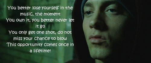 eminem lose yourself lyrics clean - photo #36