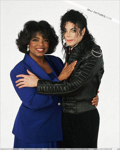 Michael with Oprah
