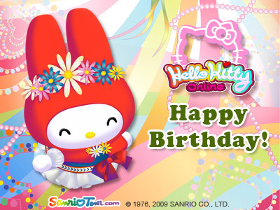 My Melody Birthday e-Card
