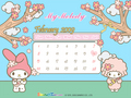 My Melody Calendar Wallpaper