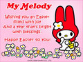 My Melody Easter e-Card - my-melody photo